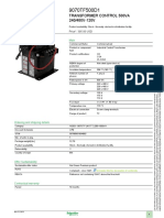 Transformer, Control Schneider 9070TF500D1