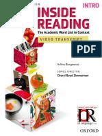 Inside Reading Intro-2nd-Video Script
