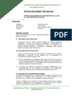 ESPECIFICACIONES TECNICAS MURO CONTENCION PACCHA