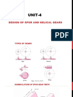 Unit-4 Design of Spur and helical Gears