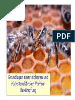 Grundlagen eier sicheren und rückstandsfreien Varroabekämpfung .- Dr. Berg