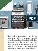 Perioperative Management of Complications