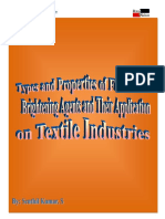 TYPES AND PROPERTIES OF FLUORESCENT BRIGHTENING AGENTS AND THEIR APPLICATIONS IN TEXTILE INDUSTRY
