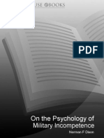 On The Psychology Of Military Incom