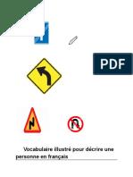 Vocabulaire illustré pour décrire une personne en français