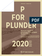 P for Plunder - 2020 (with data from 2019)
