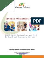 CHCCOM005 Student Assessment Booklet (ID 98950)