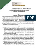 Statuto CRVG Piemonte/Aosta ODV 2020