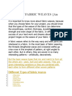 20 Types of FABRIC WEAVES