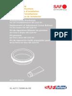 Austauschsatz Druckstueck - Replacement of Adjustment Screw Bellows - Kit de réparation Elément