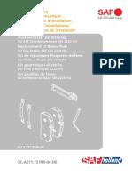 Austauschsatz Bremsbelag - Replacement of Brake Pads - Kit de réparation Plaquette de frein