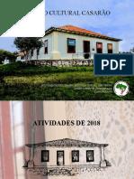 Portfólio Centro Cultural Casarão - 2018 e 2019