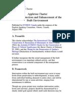 1983 - Carta Appleton pentru protecţia şi îmbunătăţirea mediului construit