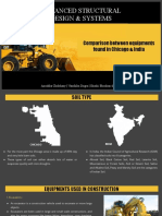 Construction machines of Chicago and India