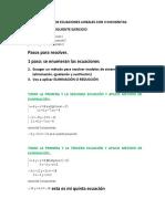 clase 16 de junio SISTEMAS DE ECUACIONES LINEALES CON 3 INCOGNITAS