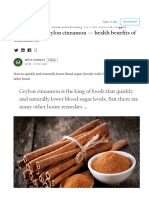 How to Quickly and Naturally Lower Blood Sugar with Cinnamon