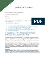 Poster de configuration de Database Appliance Oracle Database Appliance