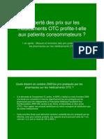 2010 - E-Leclerc - Etude des prix sur les médicaments
