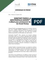 communique de presse hubstart aerotropolis - diffusion