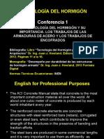 Conferencia 1 La Importancia de La Tecnología Del Hormigón