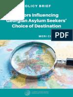 Factors Influencing Georgian Asylum Seekers' Choice of Destination