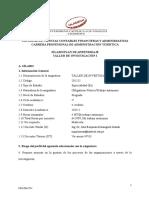 SPA TALLER  DE INVESTIGACION I ADM TURÍSTICA