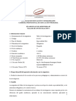SPA TALLER  DE INVESTIGACION I EDUCACIÓN PRIMARIA