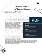 Mapping in Logistics Report- The Impact of Broken Maps on Last-Mile Deliveries