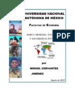 Miguel Cervantes Jimenez - Banco Mundial Evolucion y esecenarios futuros
