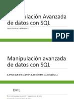 Manipulación Avanzada de datos con SQL 2020