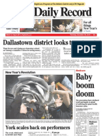 Front - York Daily Record/Sunday News, Dec. 30, 2010