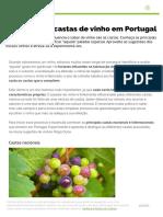 As principais castas de vinho em Portugal