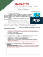 GABARITO 2o A Desenvolvimento Português