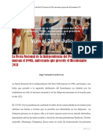 La Fiesta Nacional de la Independencia del Perú 2020 marcan el 199th, aniversario, una fecha que precede a la esperada celebración del bicentenario