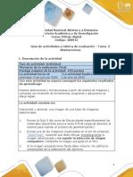Guía de actividades y rúbrica de evaluación - Unidad 3 - Tarea 5 - Abstracciones