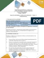 Guía de actividades y rúbrica de evaluación - Unidad 3 - Tarea 4 - Composiciones