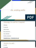 Re- ending verbs