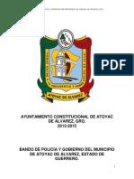 Atoyac BANDO DE POLICIA Y GOBIERNO