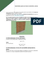 Como calcular materiales para un muro