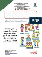 Guia Nº 6 Ortografía Español Tercero- Del 21 Al 31 de Julio