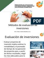 Métodos de evaluación de inversiones