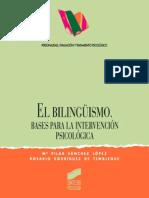 El bilingüismo. Bases para la intervención psicológica - María Pilar Sánchez López & Rosario Rodríguez.pdf