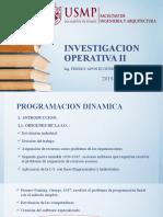 1. IO2 - PROGRAMACION DINAMICA (2019-1)