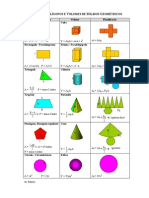 Formulario Areas e Volumes