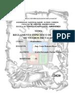 REGLAMENTO DE VIVEROS FRUTALES