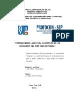 monografia FORTALECIENDO LA LECTURA Y ESCRITURA EN LOS EDUCANDOS DEL JUAN CARLOS PESSOA
