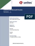 Tarea 1.1 Entorno de Microsoft Access