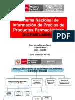 SISTEMA NACIONAL DE INFORMACION DE PRECIOS Y PRODUCTOS FARMACEUTICOS