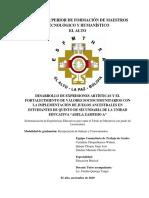 Trabajo de Grado en El Modelo Educativo Ley 070