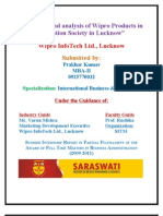 Research and Analysis of Wipro Products in Education Society
